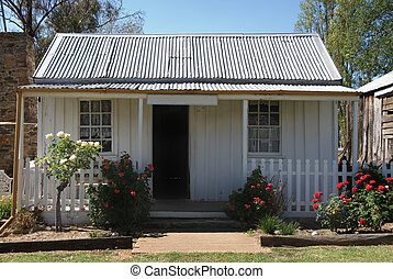 An old, small cottage in rural New South Wales, Australia