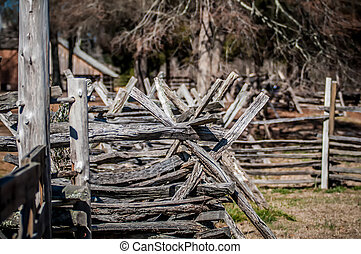 old country village fence