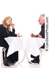 old couple at date
