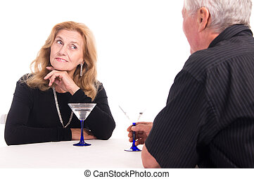 old couple at restaurant