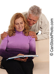 old couple at sofa