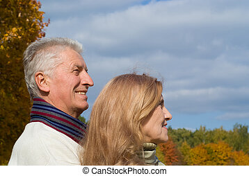 old couple at the park
