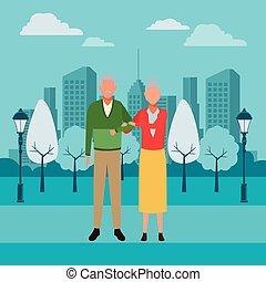old couple avatars