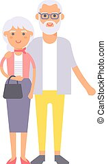 Old couple people illustration.