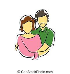 old couple symbol