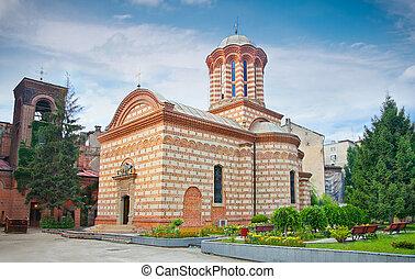 Old court church in Bucuresti, Romania.