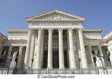 courthouse of Nimes, France - old courthouse of Nimes,...