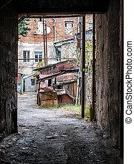 old courtyard in Kutaisi, Georgia