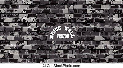 old cracked brick wall vector