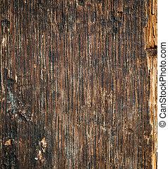 Old cracked wood background