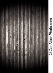 Old Cracked Wood Background with Spotlight