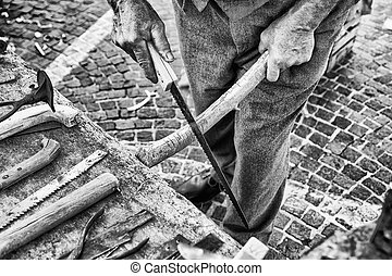Old craftsman builds Hacksaw. - Old craftsman builds Hacksaw...