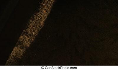 Old creepy door opening - A close up shot of a door opening....
