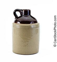 old crock style jug  - old crock style jug
