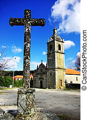 Old cross and portuguese chapel.