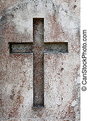 Old Cross - Old cross, carved in stone