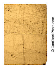 old crushed paper sheet