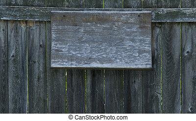 Old Crusty Signboard - Old, warped, crusty, blank wooden...