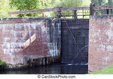 Old dam, close-up