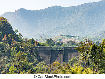 Old dam wall.