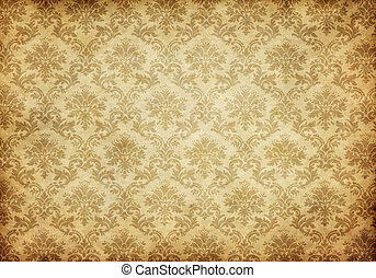 old damask wallpaper - great retro background of some old ...