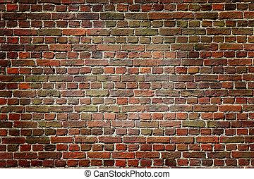 Old dark brick wall, texture background