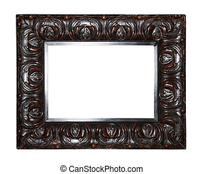 Old dark brown picture frame