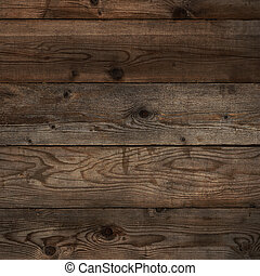 Old dark floorboard wood background square format