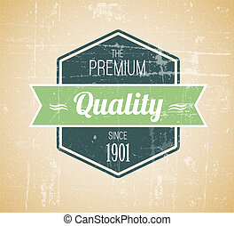 Old dark retro vintage grunge label - premium quality