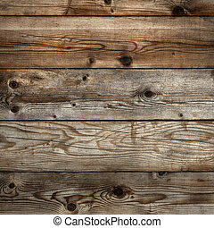 Old dark stained wood background square format