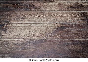 Old dark wood background .