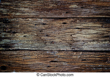 Old dark wood rotten texture