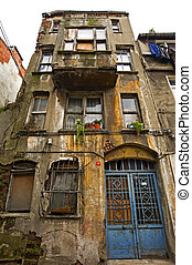 Old derelict building in a city centre