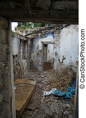 Old, destroyed house