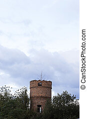 Old destroyed tower
