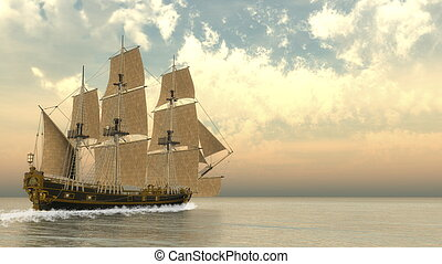 Old detailed ship HSM Victory - 3D render - Beautiful ...