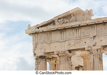 Old details of the Athenian Acropolis