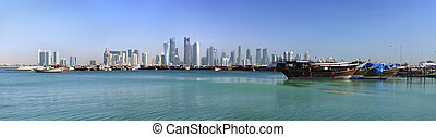 Old Dhow Harbour  in Doha, Qatar
