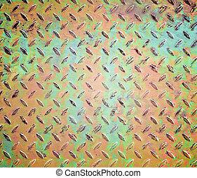 old diamond metal plate background