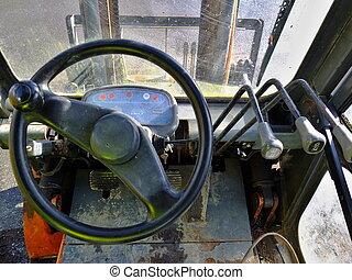Old diesel foklift