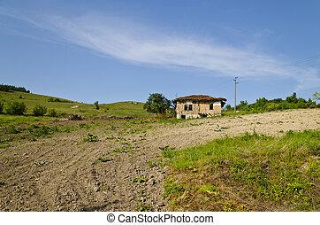 Old dilapidated house near the village Katselovo