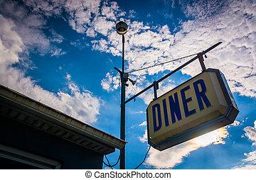 Old diner sign near Thomasville, Pennsylvania.