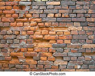 Old, dirt brick wall texture