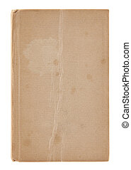 Old dirty book cover