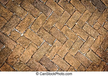 Old dirty brick stone floor texture. - Old dirty brick stone...