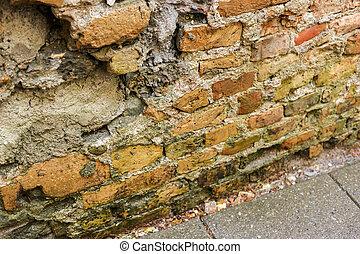 Old dirty brick wall.