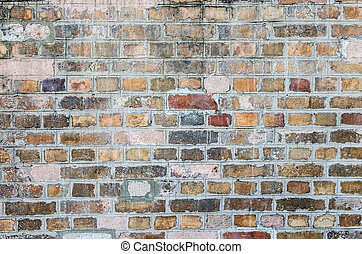 Old dirty brick wall for background texture.