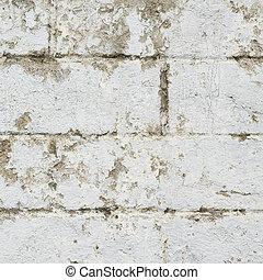 Old dirty brick wall fragment