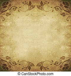 old dirty floral abstract background square
