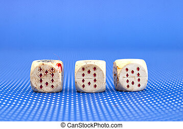 old dirty gambling dices
